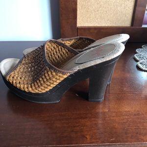beautiful basket woven top heels